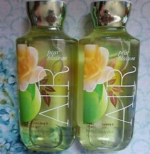 2 Bath Body Work AIR PEAR BLOSSOM Shea & Vitamin E Shower Gel Body Wash 8 fl oz