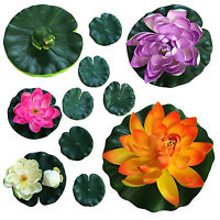 Artifical Pond Lily Lilly Floating Pond Decoration Lillie Plant With Frog