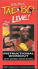 VHS Billy Blanks Tae Bo Live instructional workout video vintage c.1999