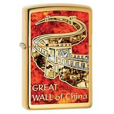 Zippo Lighter: Great Wall of China, Fusion - High Polish Brass 29244