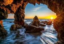 Sunrise Backdrop Curtain For Photo Photography Background Stone Cave Prop 7x5in