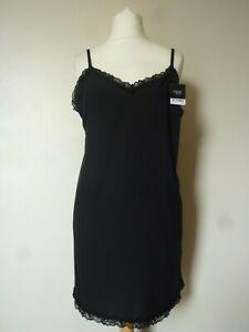 NEXT Lace Trim Thigh Length Slip Size 16 BNWT RRP £23.99 Black Uk Freepost