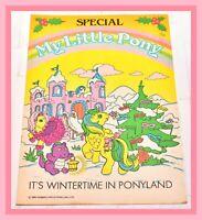 ❤️My Little Pony G1 Merchandise VTG 1986 Winter Holiday Special Magazine Comic❤️
