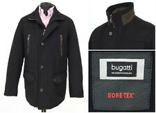 Mens Bugatti Gore-Tex Coat Jacket Black Wool Cashmere Pocket Size EU50 / UK40