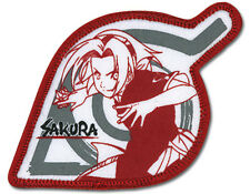 "Naruto Anime SAKURA LEAF VILLAGE Patch 3.5"" x 2"" Licensed by GE Animation 7257"