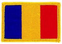 Patch écusson brodé Drapeau ROUMANIE ROUMAIN FLAG Thermocollant Insigne Blason