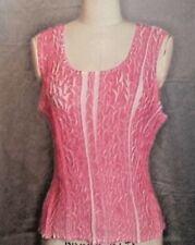 Crinkle Tank Top Pink and White by Hugging Kisses Size 4