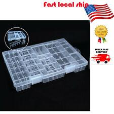 Portable Plastic Case Storage Box Holder Hinged Organiser for Aa Aaa C D 9V