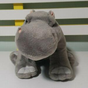 HIPPO PLUSH TOY STUFFED TOY WILD REPUBLIC HIPPOPOTAMUS 34CM LONG