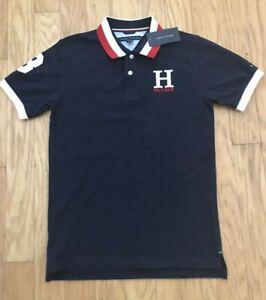 Tommy Hilfiger Boys Kirk Plaid Short Sleeve Shirt Worn Indigo Sz L NWT