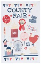 Danica Studio NOW DESIGNS Dish Towel Tea Towels THE COUNTY FAIR NWT 100% Cotton