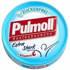 Made in Germany- Pulmoll Cough Drops Extra Stark SUGAR FREE-Classic-75g