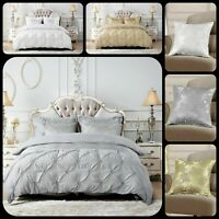 Luxury Duvet Quilt Cover Bedding Set With 2 Pillow Cases Double King Super King
