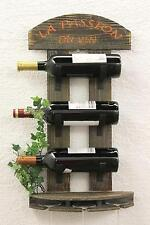 Botellero para vino Estante de pared 5091 Madera 60 cm Bar Soporte botellas