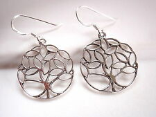 Leafy Tree Earrings 925 Sterling Silver Dangle Corona Sun Jewelry arbor forest
