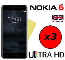 3x HQ ULTRA TRANSPARENTES HD guardias de ahorro de películas protectoras de pantalla para Nokia 6