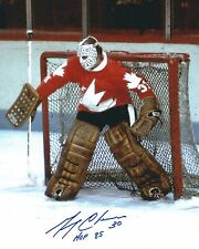 "Autographed 8x10 GERRY CHEEVERS ""HOF 85"" Team Canada photo with Show Ticket"