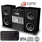 GPX Home Music System Remote CD AM FM Stereo Aux In 3.5mm Black Alarm LCD HC425B