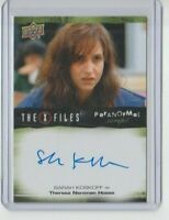 X-Files UFOs and Alien Edition Paranormal  Autograph Trading Card Sarah Koskoff