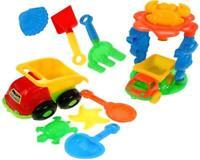 10tlg. Sandspielzeug Set Kipper Sandkasten Spielzeug Strandspielzeug Formen