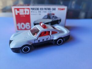 TOMICA 106 - PORSCHE 959 PATROL CAR [WHITE] ABSOLUTELY MINT VHTF MADE IN JAPAN