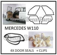 Mercedes W110 Door Rubber Weathership Gasket Seals with retainers 190 190D