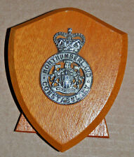 Northumberland Constabulary desk plaque shield crest police