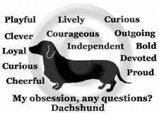 Dachshund Smooth Dog Obsession? T-shirt Overstock Sale Black Xlarge one only
