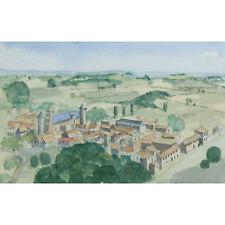 Above Beaumont Dordoigne France Modern Landscape Watercolour Painting Tim Jones