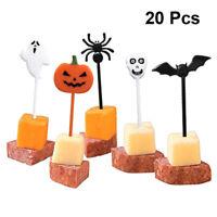 20tlg Cake Topper Halloween Party Kuchen Stecker Deko Cupcake Obst Picks Set NEU