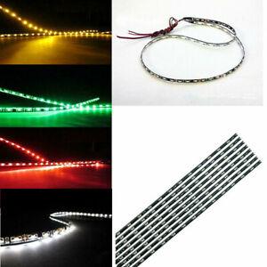 2x Side Glow 60cm 60leds Side-emitting Shine Led Neon Strip Light 12V Waterproof