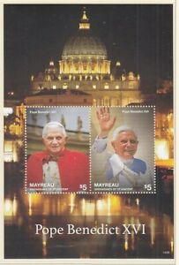 St.Vincent Mayreau Block 48 Pope Benedict Xvi. (MNH)