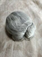 Doll Wig Human Hair Gray Color Bun Vintage