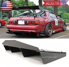 "30"" x 12.5"" ABS Textured Rear Bumper Center Diffuser Fin Black For Mitsubishi"