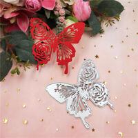 Stanzschablone Schmetterling Rose Hochzeit Weihnachts Geburtstag Karte Album DIY