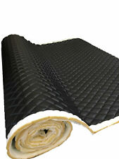 Black PVC Quilted Upholstery Vinyl Fabric with 3/8
