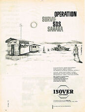PUBLICITE ADVERTISING 124 1960  ISOVER SAINT-GOBAIN le duvet de verre