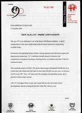 Alfa Romeo 147 2000 UK Market Press Release 1.6 2.0 TS Selespeed