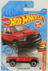 2020 Hot Wheels 2020 Ram 1500 Rebel Red 225/250 HW Hot Trucks #2 GHB31