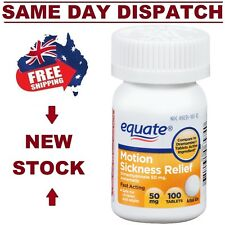 Anti Nausea MOTION SICKNESS RELIEF 100 Tablets Sea Car Plane Sick AU FRESH STOCK