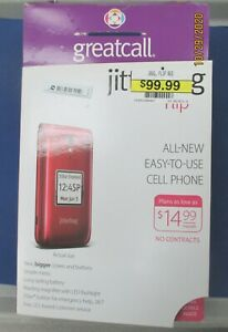 Great Call Red Jitterbug LIVELY Flip Phone 5Star Button Large Buttons