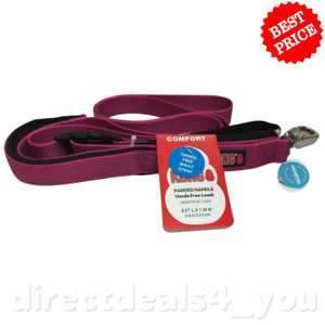 (New) KONG Padded Handle Hands-Free Leash, Maroon 6 Ft