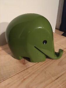 Drumbo Elefant XXL 25 cm Luigi Colani Spardose vintage 70er Grün Dresdner Bank