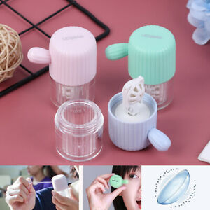 1X Portable Contact Lens Cleaner Case Box Manual Rotation Washer Cleaning Tra*VV