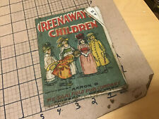 vintage original cloth Muslin book: GREENAWAY'S CHILDREN saalfield 1907