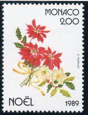 TIMBRE MONACO N° 1701 **  FLORE / NOEL / POINSETIA HOUX ET ROSE DE NOEL