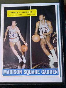 1968 (12/14) NY Knicks vs San Diego Rockets Basketball Program