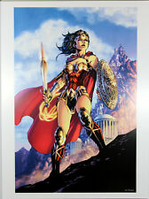 "WONDER WOMAN #75 ART PRINT by Jim Lee ~ 12"" x 16"" ~ Great Condition"