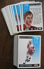 1991-1992 Score #298 Sergei Fedorov (Red Wings) Points Leader. (LOT 104 Cards!)