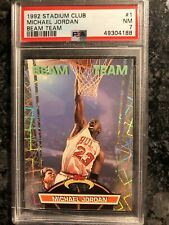 1992 Stadium Club - MICHAEL JORDAN Beam Team #1 - PSA 7 NM - Bulls